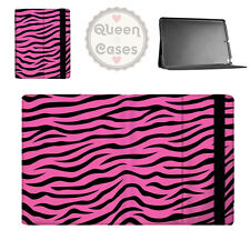 Zebra Print Bright Pink Flip Folio Case - fits iPad Air Mini Samsung Galaxy