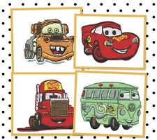 DISNEY PIXAR CARS McQueen, MATTER, MACK, FILLMORE Embroidered Iron / Sew Patch