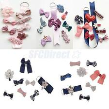 High Quality Toddle Girls Hair Clips Bows Set with Grosgrain Ribbon Organizer