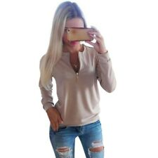 COCKCON Casual Ladies V-Neck Long Sleeve Hoodie Women Winter Jumper Pullover Top