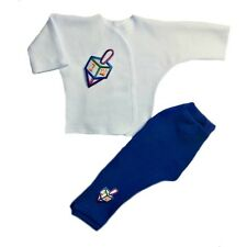 Baby Boy Darling Dreidel 2 Piece Clothing Set 4 Preemie and Newborn Infant Sizes