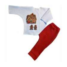 Gingerbread House Christmas Baby Pants Shirt Set - 4 Preemie and Newborn Sizes
