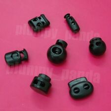 10 cordlock Cord lock end stops Toggle Barrel Black cordlocks ball cylinder oval