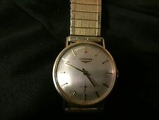 *VINTAGE MEN'S 14KT GOLD LONGINES WRISTWATCH SEE SCANNED PICS WOW $$$ *