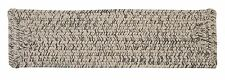 Corsica Indoor Outdoor Rectangle Braided Stair Tread, Silver Shimmer~Made in USA