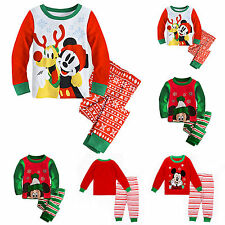 2pcs Kids Boy Girls Mickey Cartoon Outfits Tops+Leggings Pants Christmas Clothes