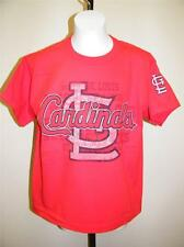 NEW St. Louis Cardinals Youth Sizes M-L (10/12-14/16) Red Shirt