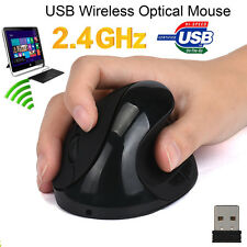 2.4G 6 Buttons Wireless Ergonomic Optical USB Vertical Mouse Mice 1600 DPI Lot