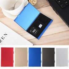 Aluminum Hard Carry Case Memory Card Protect Travel Holder Bag SD Micro TF Cover