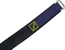 Wrist watch bands Bracelet with Velcro SPORT Nylon blue 22 mm 20mm