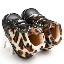 Toddler Newborn Infant Baby Girls Prewalkers Leopard Sneakers Crib First Shoes