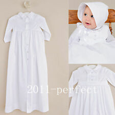 2016 Baby Baptism Dresses White Ivory Christening Gown With Bonnet Custom made