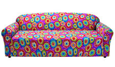 "CLOSEOUT !!---TIE DYE COVERS FOR LOVESEAT SOFA COUCH CHAIR RECLINER- ""STRETCHES"""