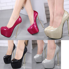 New Metal square base Very High heels Patent Leather Shoes Sexy Women's Sandals