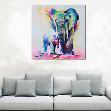 Multicolor Elephant Canvas Painting Frameless Pictures Living Room Decor Rapture