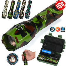 8000LM Bright X800 Tactical Flashlight LED Zoom Camouflage Military Torches G700