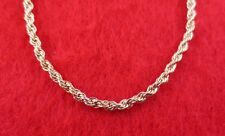 "14KT GOLD EP ROPE  CHAIN NECKLACE-16-""36"" LIFETIME GUARANTEE 1.7mm TO 7.0MM"