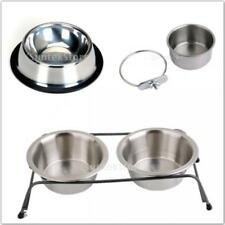 Stainless Steel Dog Bowls Pet Cat Bird Raised Bowl Pet Feeder Water Container