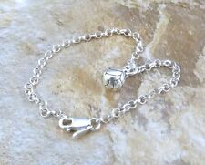 Sterling Silver 3D Volleyball Charm on  Sterling Silver  Rolo Bracelet - 1993