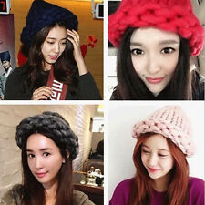 Unisex Star Same Style Candy-colored Beanie Cap Winter Warm Knit Hat Bucket Hat