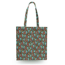 Peacock Feathers Canvas Tote Bag - 16x16 inch Book Gym Bag Optional Zip