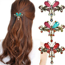 Fashion Women Turquoise Crystal Butterfly Flower Hairpin Hair Barrettes Clips