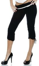 226006  Forplay clubwear Poly/Spandex stretch soild black capri pants S, M