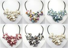 handmade shell pearl crystal mother of pearl flower Pendants Necklaces Fashion