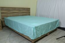 One Bed Skirt/valance 100% Egyptian Cotton 15 Inch Drop 1000 TC Aqua Blue Solid
