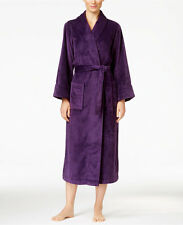 Charter Club Super Soft Shawl Collar Long Robe Purple S  new