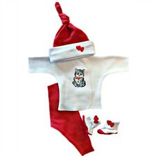 Kitten Love Baby Girl 4 Piece Clothing Outfit - 4 Preemie and Newborn Sizes