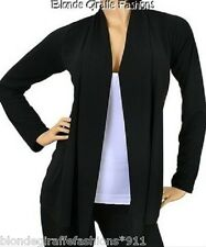 Black Long Sleeve Shrug/Cover-Up Drape Scarf Tunic Cardigan  #BB-B