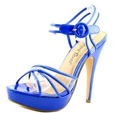 2 Lips Too Too Nelly Women  Open Toe Synthetic Blue Platform Sandal
