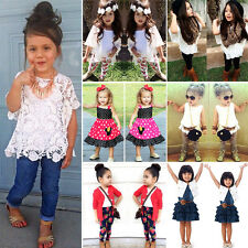 Toddler Kids Baby Girls Outfit Suit Summer Casual Party Clothes Sets 2pcs / 3pcs