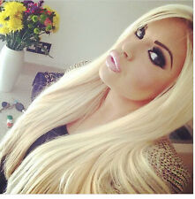 2 Bundles Brazilian Straight Remy Human Hair Weave Extensions Blonde Hair 50g