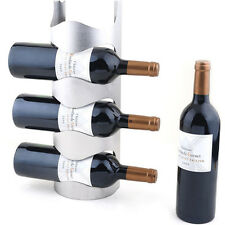 Excellent Houseware Metal Wall Mounted 3/4 Bottle Wine Holder Storage Rack HF