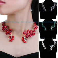 Fashion Jewelry Gold Chain Acrylic Choker Collar Statement Bib Pendant Necklace
