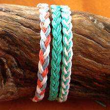 Handmade Hemp Braided Friendship Bracelet or Anklet - Basic 6 cord plait