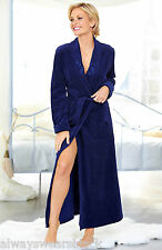 LADIES LIGHT SOFT VELOUR DRESSING GOWN/ROBE/HOUSE COAT - TEAL SIZE 8/10
