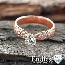 Diamond Engagement Ring 1.14 CT Round SI/I-J Solid 14k Gold Size 8 Enhanced