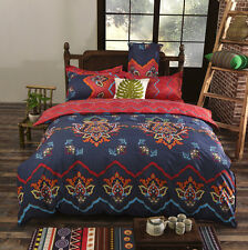 Navy And Red Bedding Pillowcase Quilt Cover Duvet Cover Set Twin Queen King Size