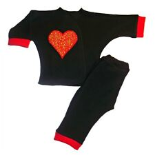 Unisex Baby Red Heartbreaker 2 Piece Clothing Outfit 4 Preemie and Newborn Sizes
