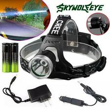 CREE XM-L T6 LED Focus Headlight Head Lamp Zoomable Waterproof+ 2x18650 +Charger