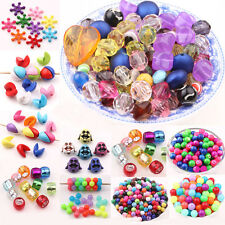 Wholesale Chic Mixed Candy Color Acrylic Loose Spacer Beads Charm Jewelry DIY