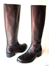 NIB DONALD J PLINER 'Bixbi' black leather TALL FLAT RIDING boots 7 - classic