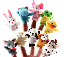 2/10Pcs Baby Finger Even Double Layer Foot Animal Dolls Hand Puppet Plush Toys