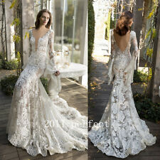 2017 Summer Sexy V Wedding Dresses Butterfly Sleeve Lace Mermaid Bridal Gowns