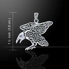10th Century Odins Raven Sterling Silver Pendant - designed by Mickie Mueller