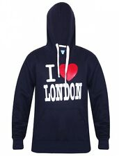 New Mens I Love London Fleece Hoodie Sweatshirt Casual Workwear Hooded Top Large