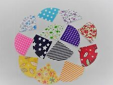 FABRIC FAN SHAPED MATERIAL PIECES FOR QUILTING & PATCHWORK SEWING - FAT QUARTS